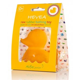 Hevea Natural Rubber Baby Bath Toys & Kids Bath Toys. Alfie Junior the Yellow Rubber Duck