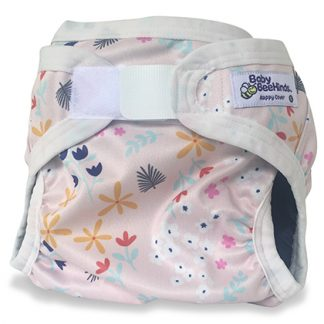 PUL pink nappy cover