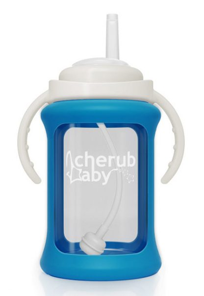 Blue Sippy Straw Cup by Cherub Baby