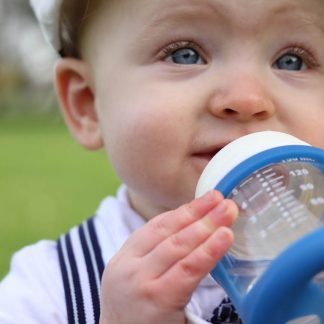 Cherub Baby wide-neck glass non spill sippy cups