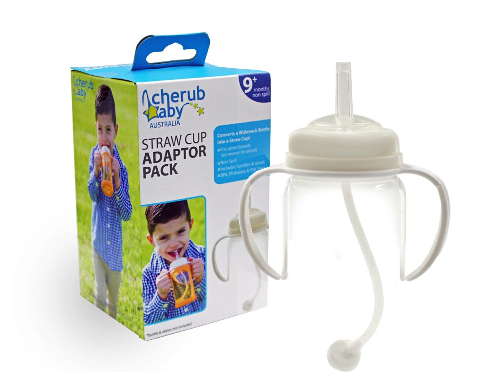 NEW Baby Kids Childrens Cherub Baby Wide-neck Sippy Cup Adaptor Pack