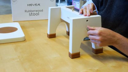 Hevea Step Stool made from Rubberwood