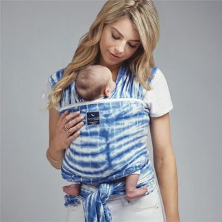 HUG-A-BUB® ORGANIC LIGHTWEIGHT WRAP CARRIER – WATERCOLOUR BLUE